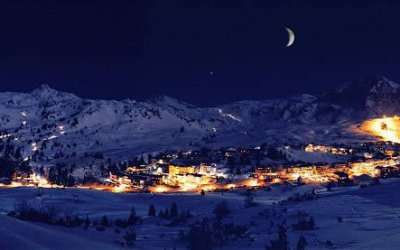 Skihotel Perner at night - Winter holidays in Obertauern