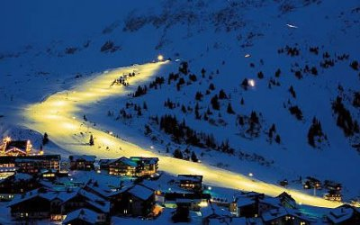 Skiing at night - Winter in Obertauern